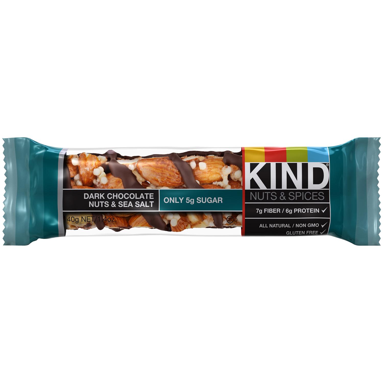 Kind Nuts amp Spices Dark Chocolate Nuts amp Sea Salt Bar 14