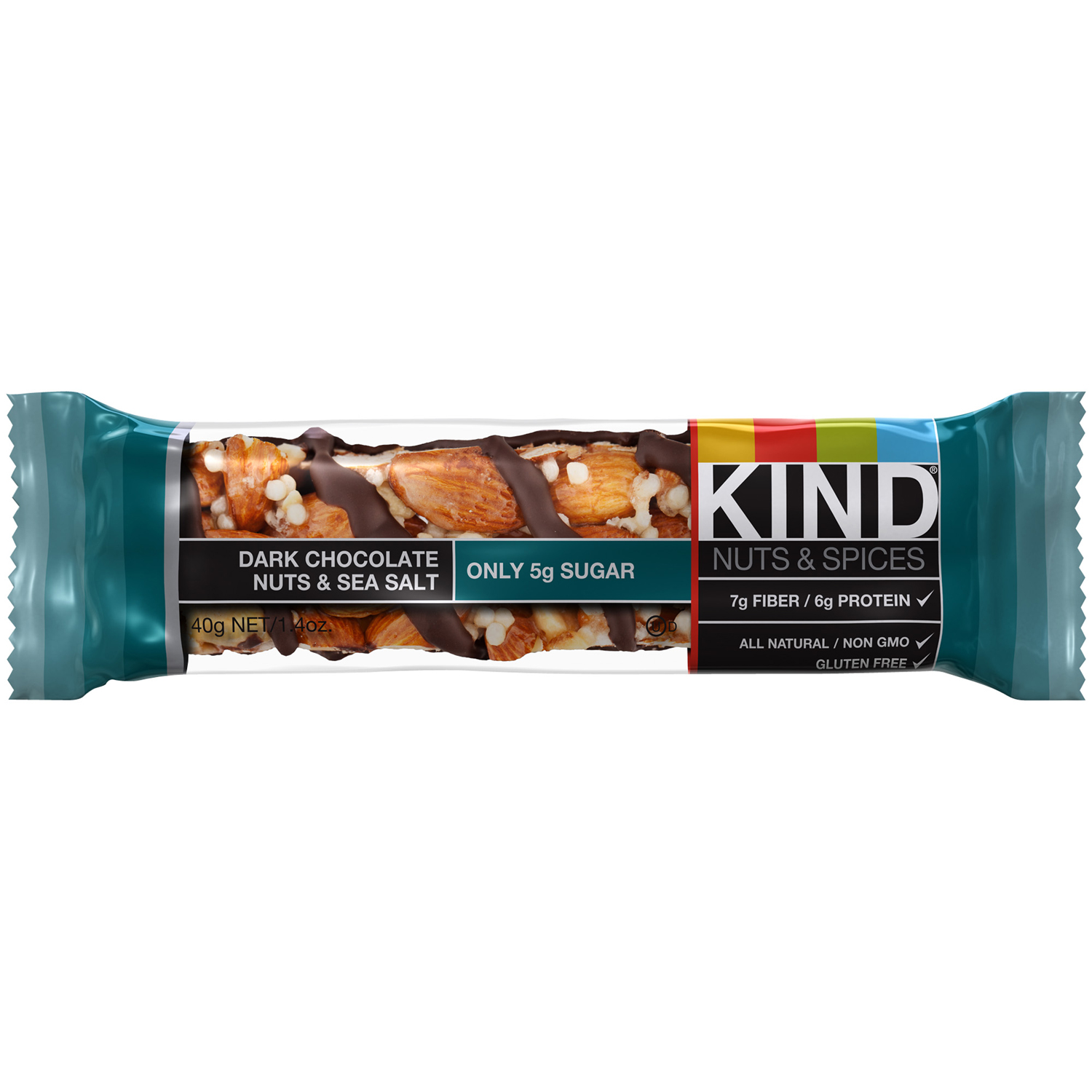 Kind Nuts amp Spices Dark Chocolate Nuts amp Sea Salt Bar 14