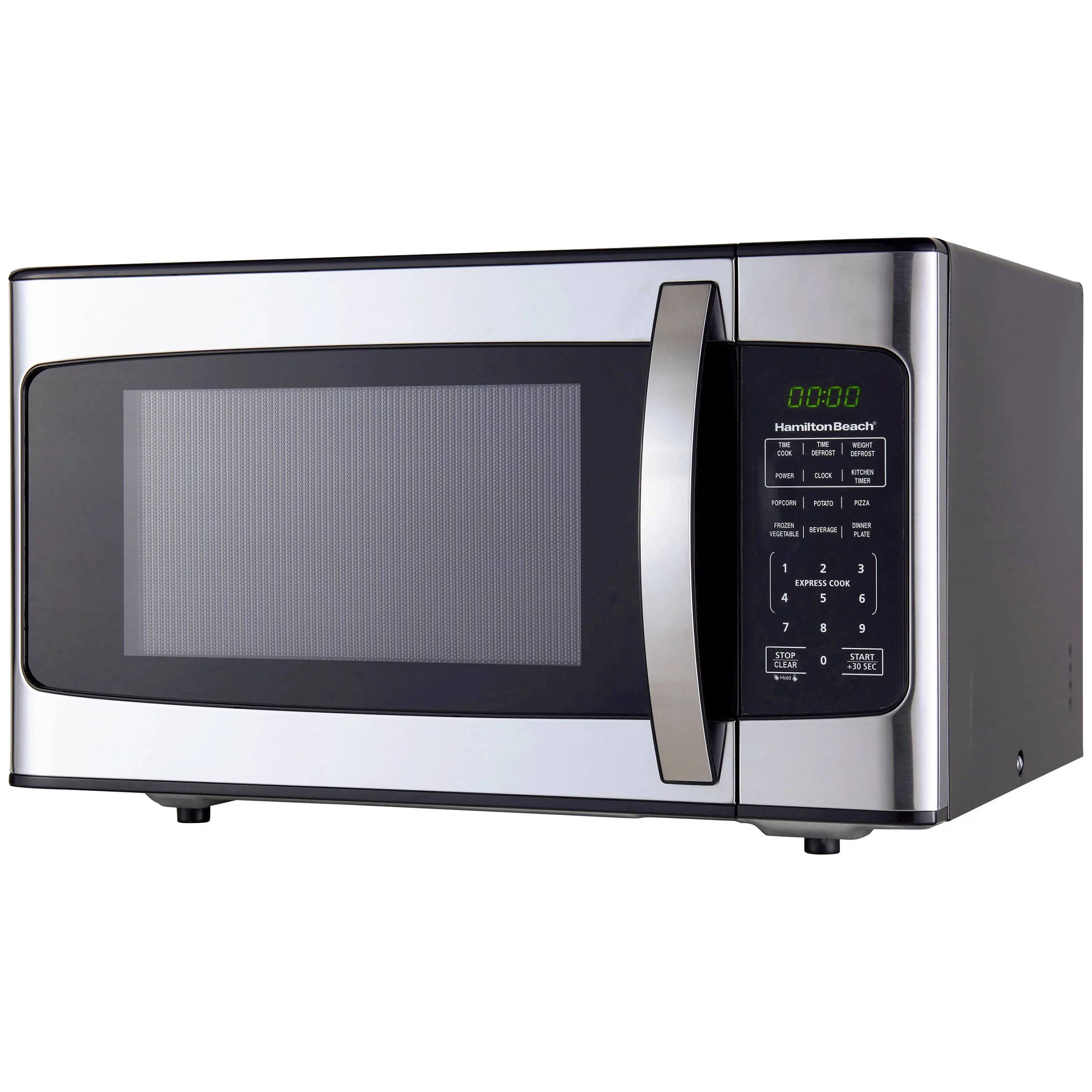 hamilton beach 1 1 cu ft 1000w stainless steel microwave walmart com