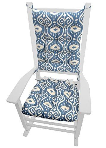 rocking chair cushions bali blue ikat seat cushion and back rest latex foam fill reversible made in usa extra large