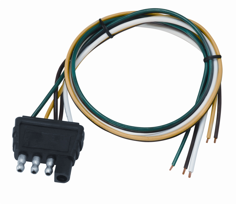 hight resolution of wesbar 707286 4 way flat wiring connector trailer end 18 in 4 pin trailer connector 4 way flat wiring harness