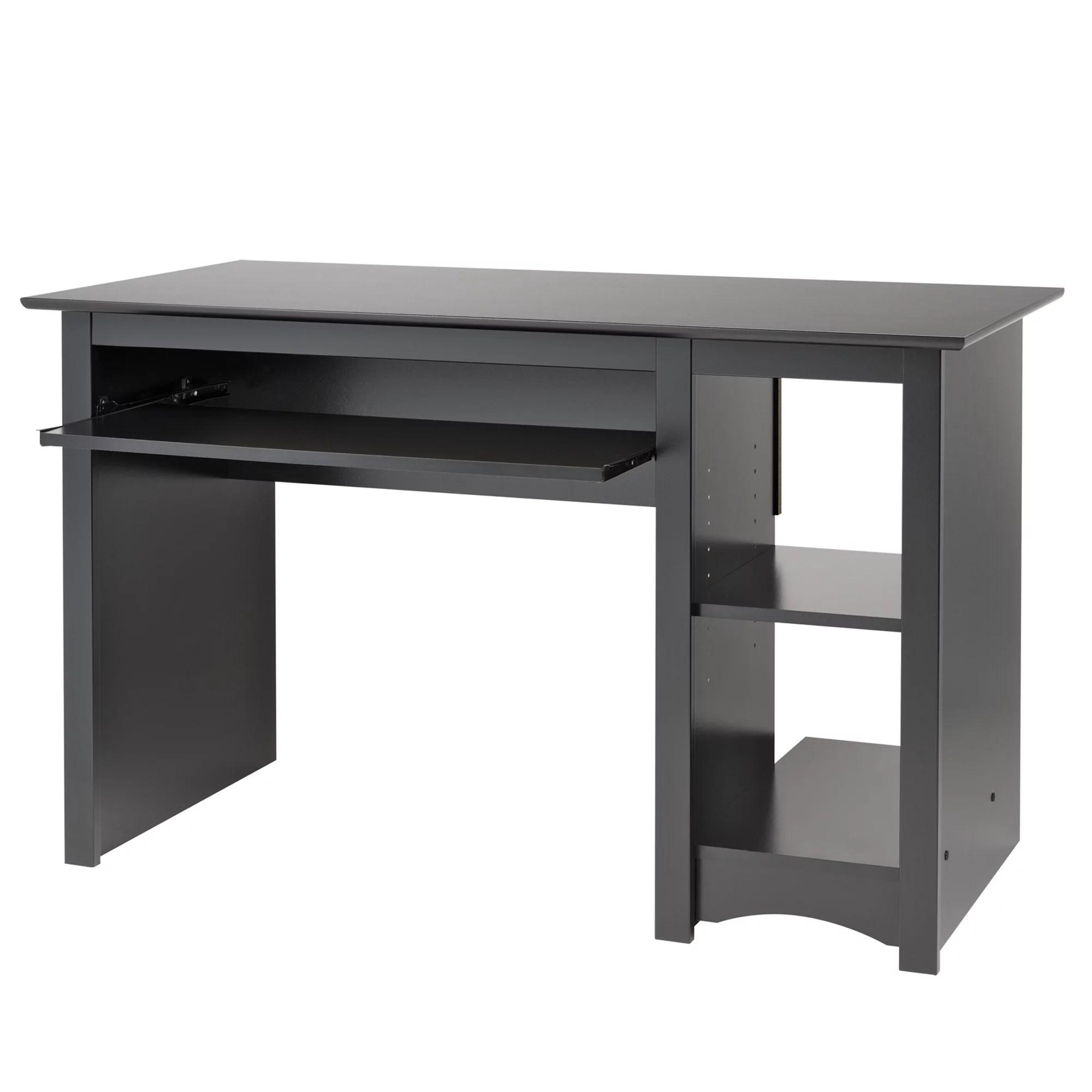 prepac home office computer desk black walmart com walmart com