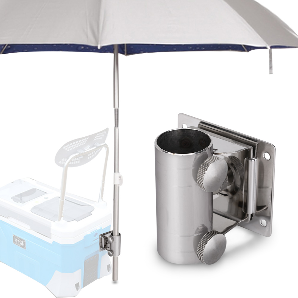 fishing chair umbrella holder papa san ejoyous high strength adjustable stainless steel bracket stand base for box