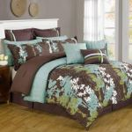 Legacy Decor 12 Pc Teal Green Brown And White Floral Print Comforter Set With Quilt Included Queen Size Walmart Com Walmart Com