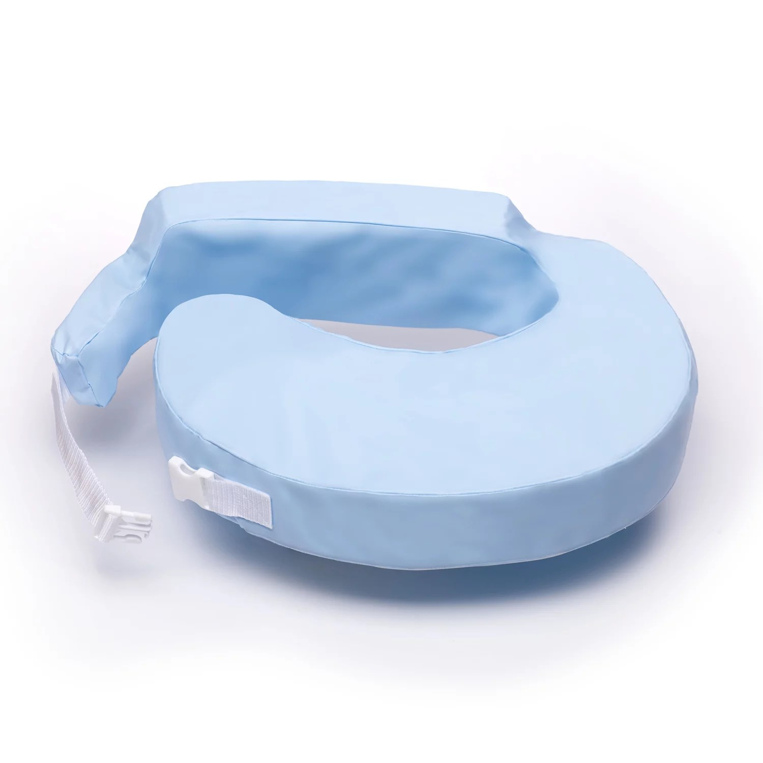 my brest friend waterproof nursing pillow breastfeeding pillow with wipe clean antimicrobial slipcover blue