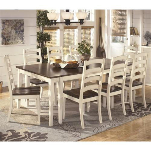 Ashley Whitesburg 9 Piece Extendable Dining Set in Brown