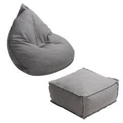 Soft Bean Bag Chairs Eero Saarinen Chair Karmas Product And Ottoman Set Self Inflated Sponge Stuffed Beanless Sofa Lounger For Kids Adults Dorm Indoor Outdoor