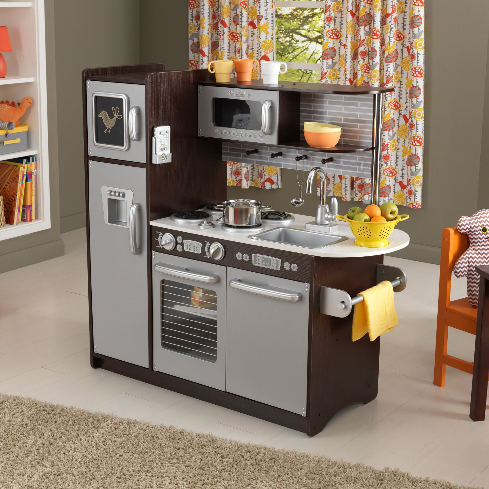 KidKraft Uptown Espresso Play Kitchen  53260  Walmartcom