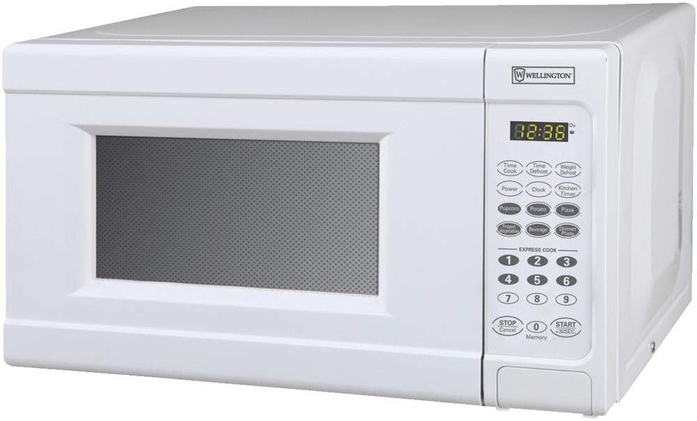 white 0 7 cu ft microwave
