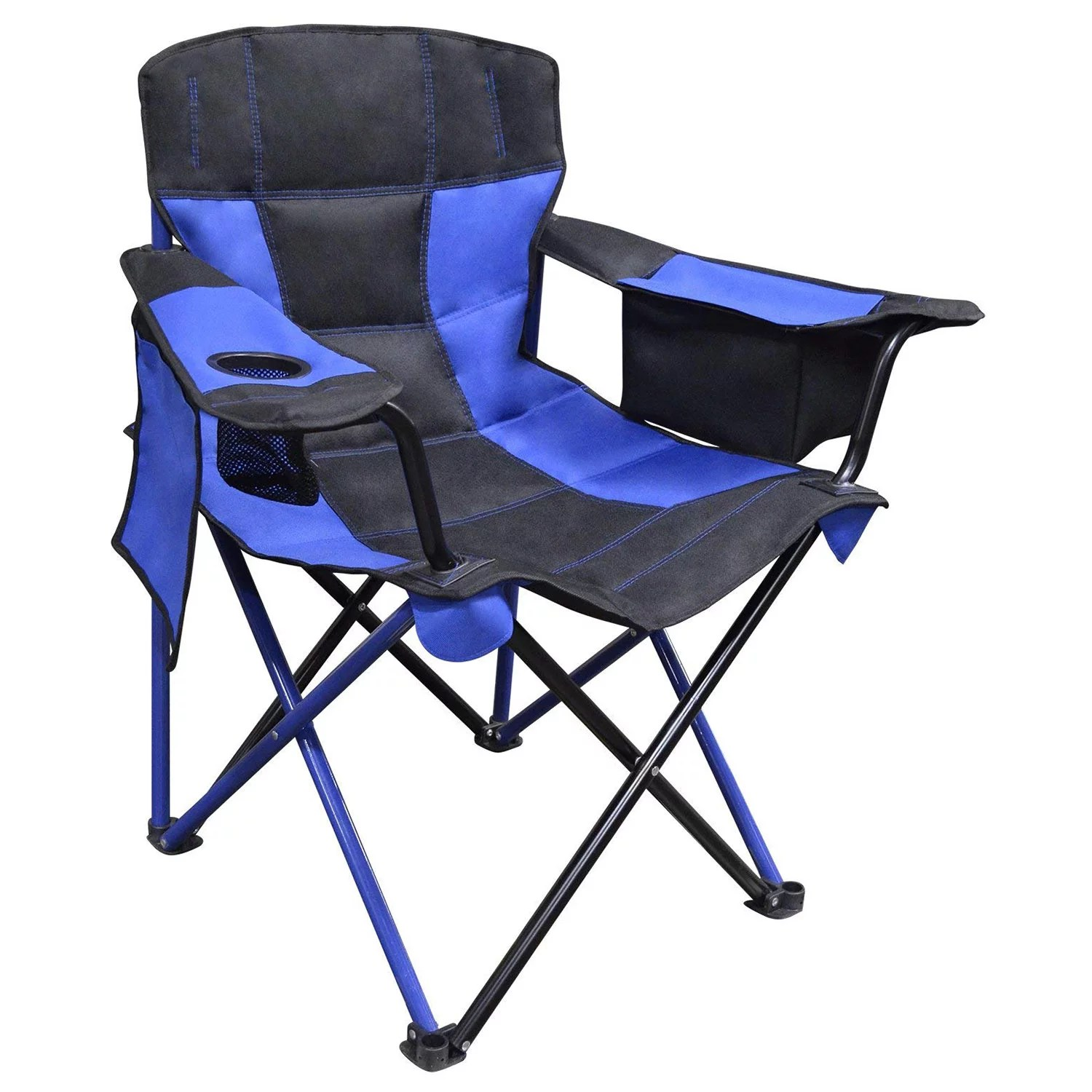 Camping Chair With Canopy Caravan Canopy Elite Quad Outdoor Camping Chair With Built In Cooler True Blue
