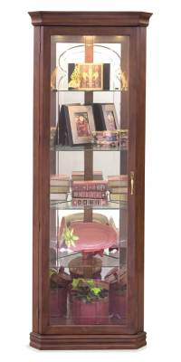 Lighthouse Tempo - Lighted Corner Curio Cabinet - Walmart.com