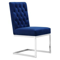 Navy Blue Dining Chairs Set Of 2 Wing On Sale Meridian Furniture Inc Carlton Velvet Chair Walmart Com
