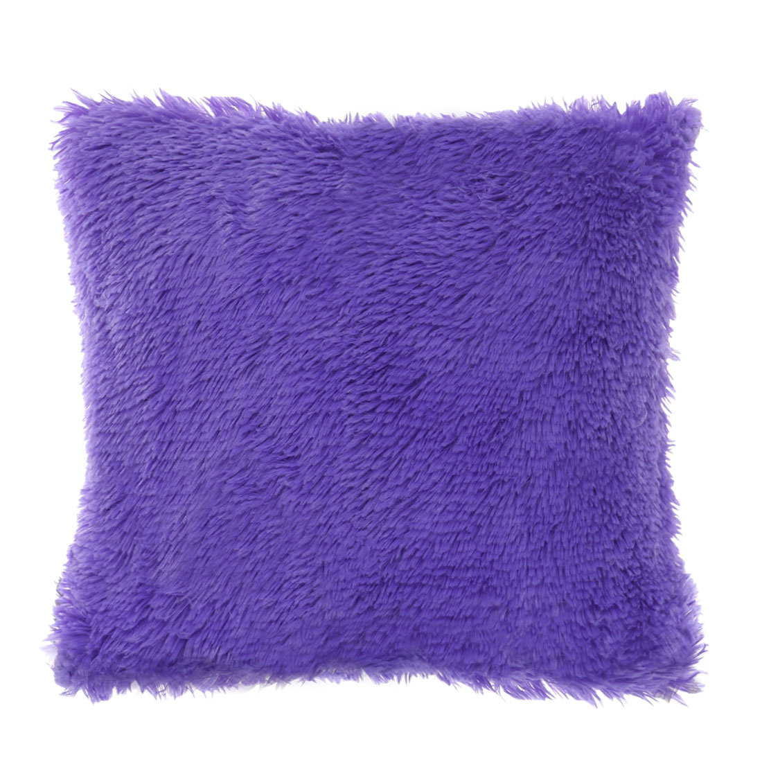 piccocasa faux fur modern solid square throw pillow covers 24 x24 purple