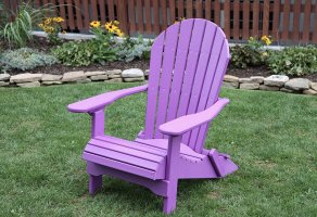 Poly Lumber Rolled Seating Folding Adirondack Chair Bright ...