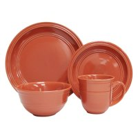Mainstays 16pc Dinnerware Set, Orange Spice - Walmart.com