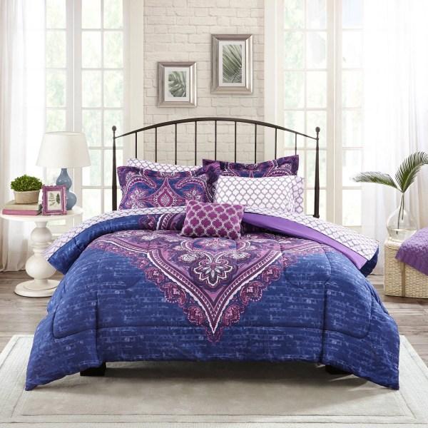 Walmart Purple Comforter Set Full Size