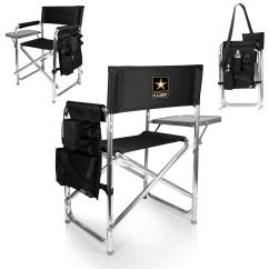 Picnic Time Sports Chair Wood Patio U S Army Walmart Com