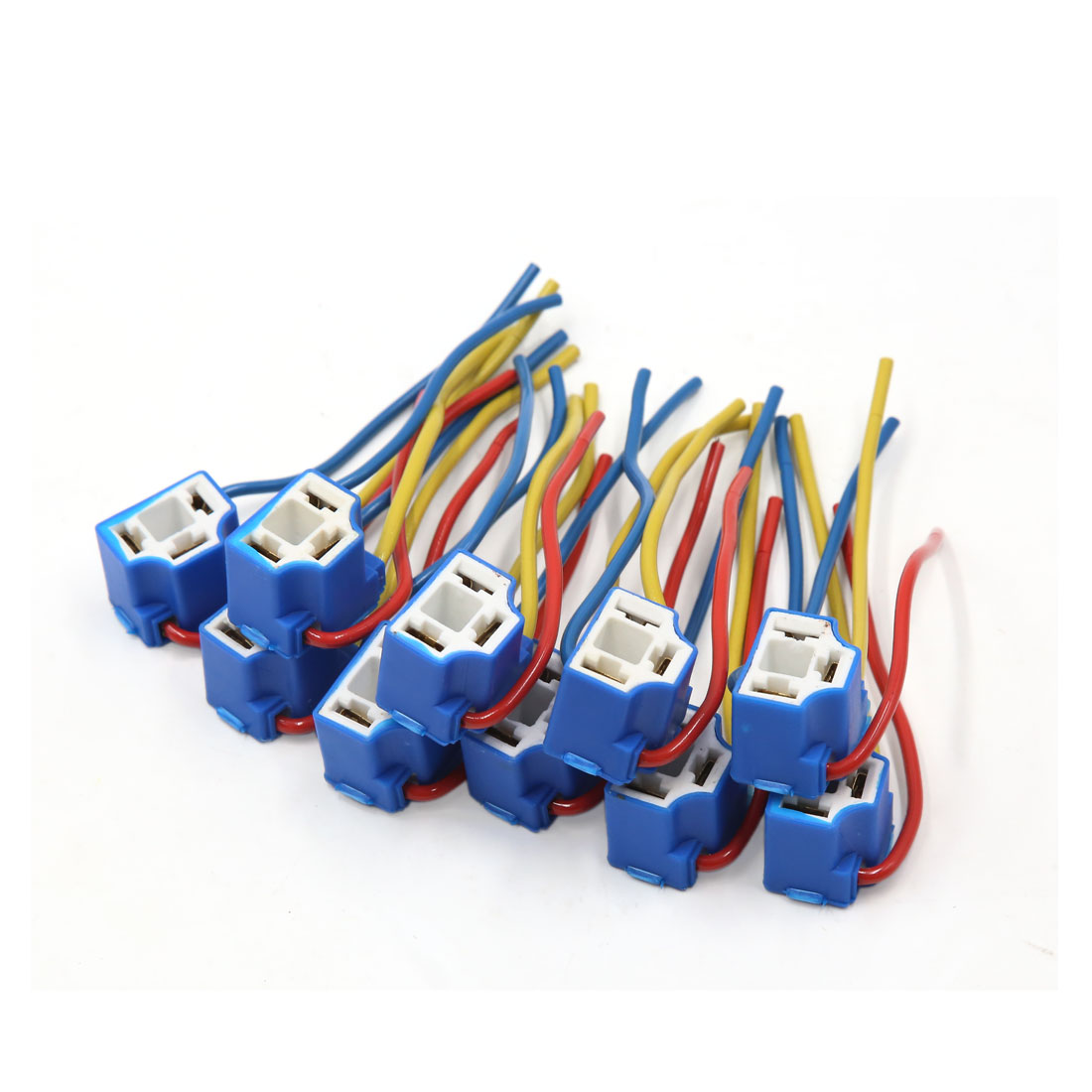 medium resolution of 10pcs 3 wires car h4 foglight lamp bulb extension wire harness socket connector