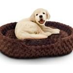 Petmaker Cuddle Round Plush Pet Bed Small Brown Walmart Com Walmart Com