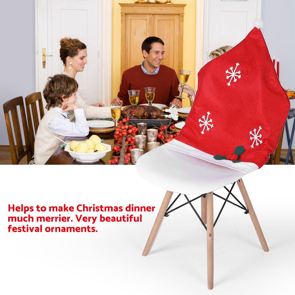 party chair covers walmart rocking chairs at tractor supply eecoo red table cloth cover ornaments for christmas household departments