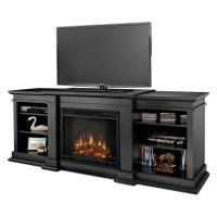Real Flame Fresno Electric Fireplace - Black - Walmart.com
