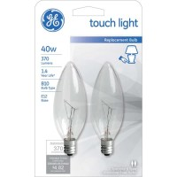 GE INCANDESCENT 40W CLEAR SMALL BASE DECORATIVE TOUCH ...