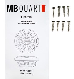 mb quart nw1 254l 10 600w slim marine subwoofer w led s mono amplifier wires walmart com [ 1410 x 1700 Pixel ]