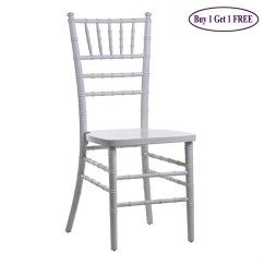 Plastic Chiavari Chair Recliner Covers Dunelm Beechwood Chairs Wedding Party Event Silver Buy 1 Get Free
