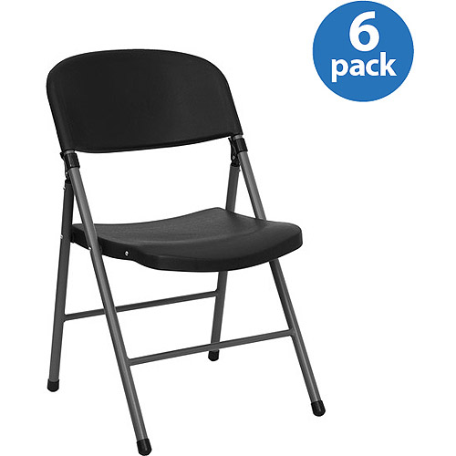 folding chairs walmart adirondack wood black plastic chair set of 6 com