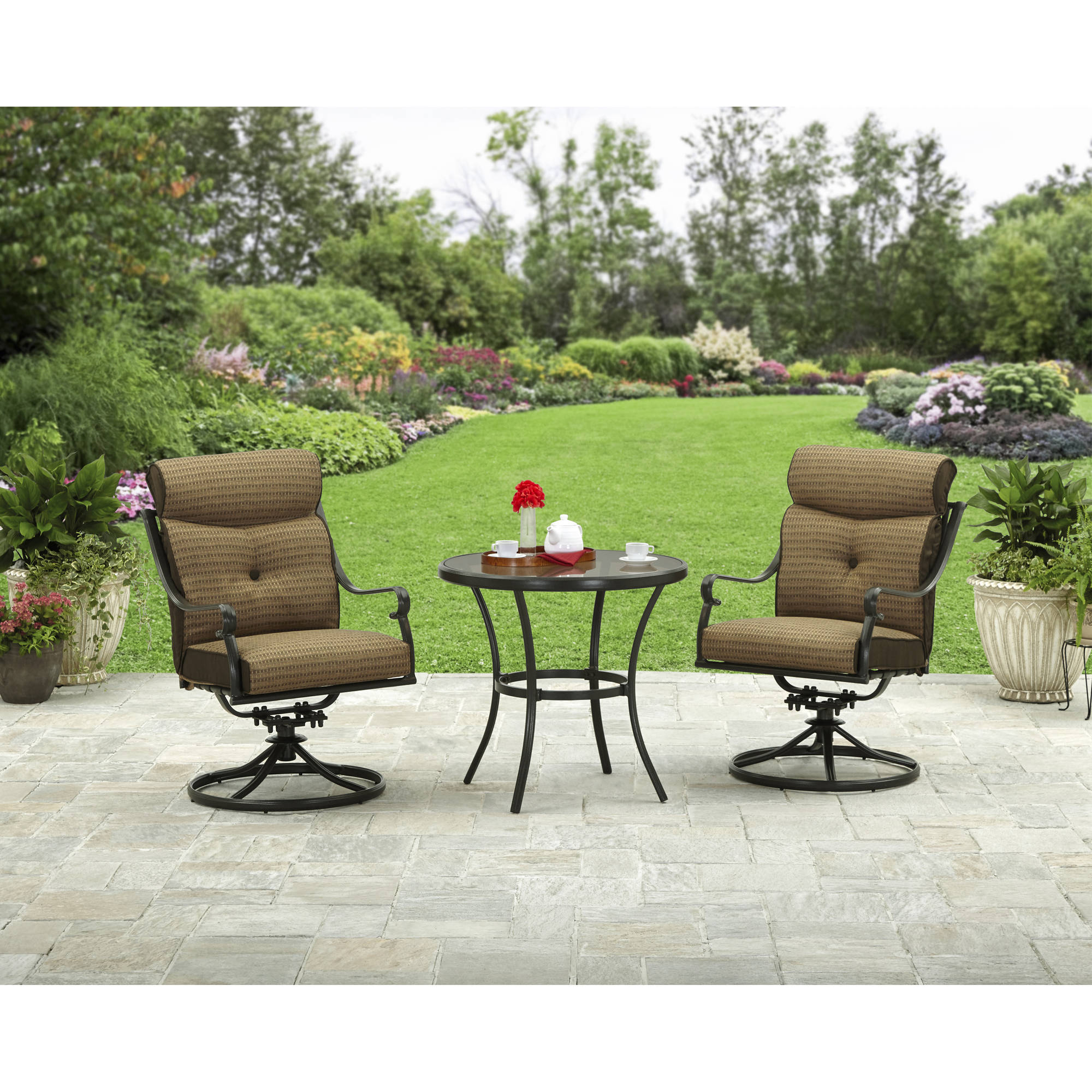Metal Bistro Table And Chairs Better Homes And Gardens Bailey Ridge 3 Piece Outdoor Bistro Set