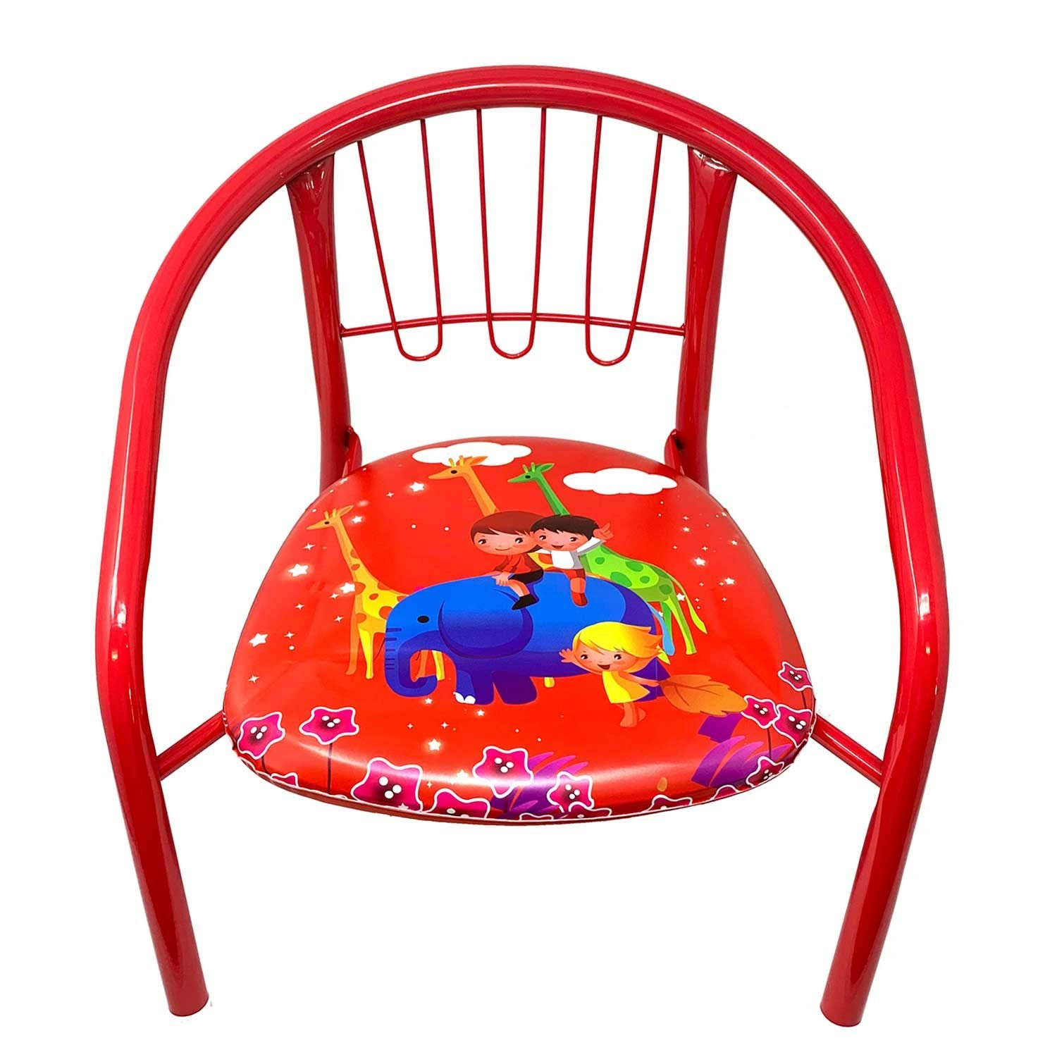 Toddler Soft Chairs Kids Toddler Metal Chairs With Soft Cushion Bottom Squeaky Fun Sound Indoor Outdoor Chair For Boys Girls Home Garden Playhouse Preschool Birthday