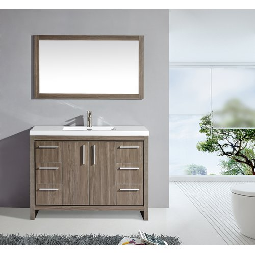 Mtd Vanities Miami 48 Single Sink Bathroom Vanity Set With Mirror Walmart Com
