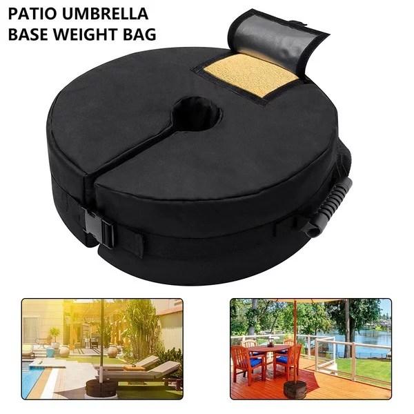 heavy duty sand bags umbrella weight bag weatherproof parasol umbrella stand base for outdoor patio offset cantilever umbrellas