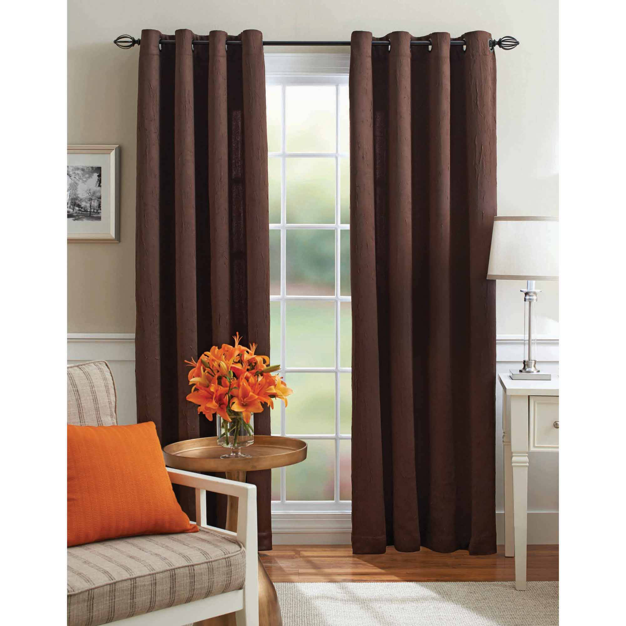 Better Homes and Gardens Crushed Room Darkening Curtain