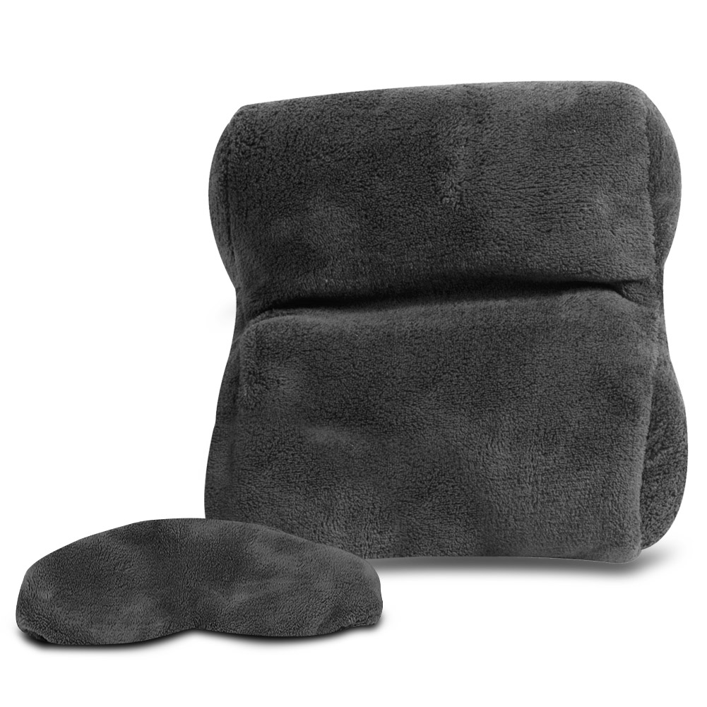 travelon ultra fleece travel pillow eye mask set