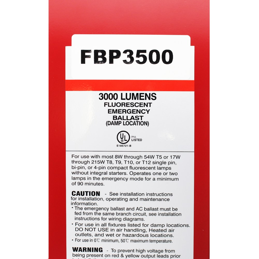 medium resolution of sure lites fbp3500 fluorescent emergency battery pack 1 2 lampssure lites fbp3500 fluorescent emergency battery
