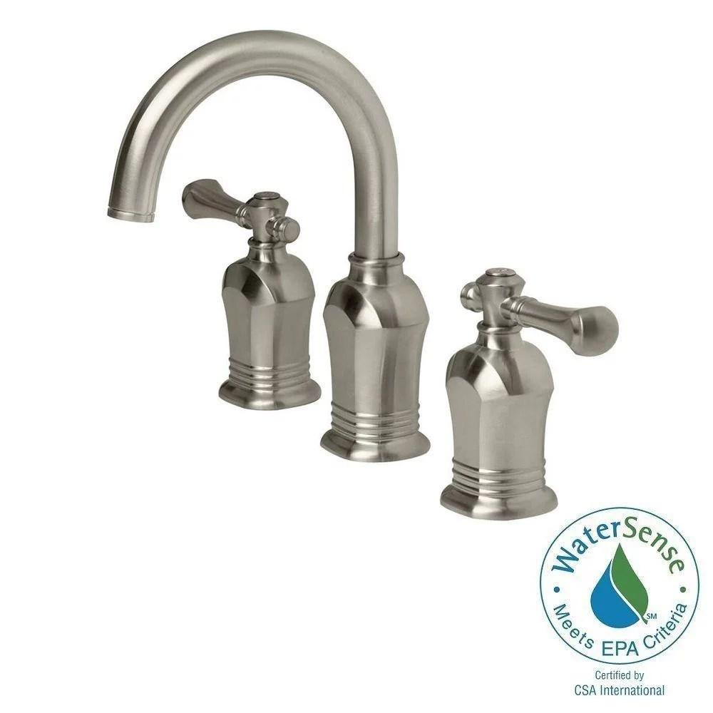 pegasus 67389w 8004 verdanza 8 in widespread 2 handle high arc bathroom faucet in brushed nickel walmart com