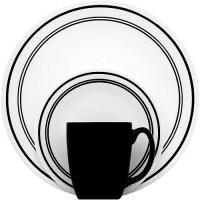 Corelle Classic Caf Black 16-pc Dinnerw - Walmart.com