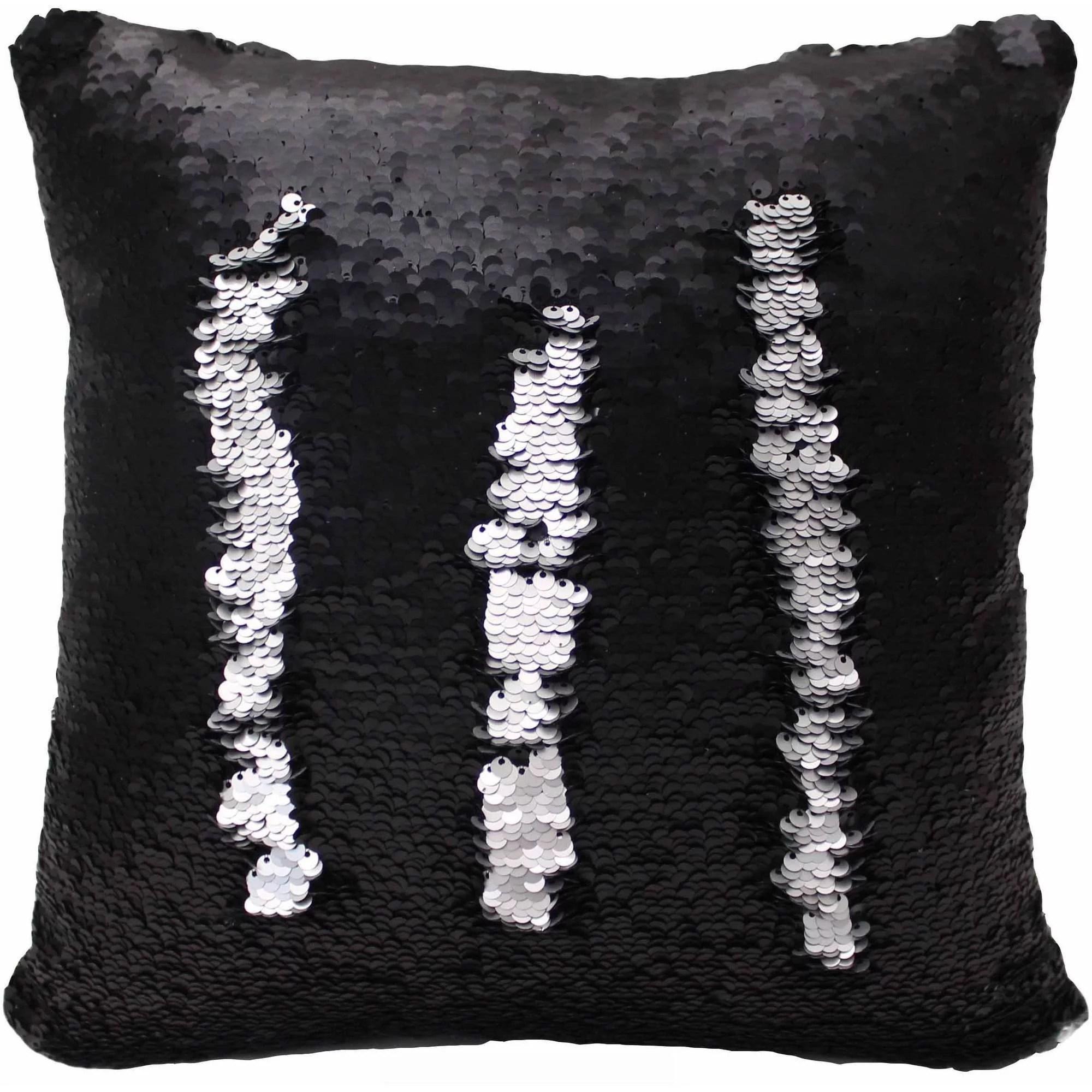 posh home sequined mermaid decorative pillow walmart com
