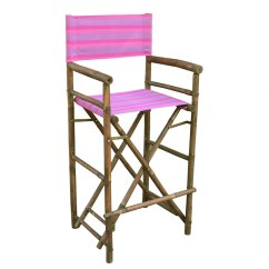 Directors Chair Bar Stool Covers For Sale Australia Statra Bamboo Indoor Outdoor Canvas Barstool Set Of 2 Walmart Com