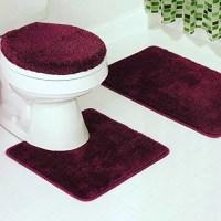 3-Piece Bathroom Set Bath Mat, Contour, and Lid Cover ...
