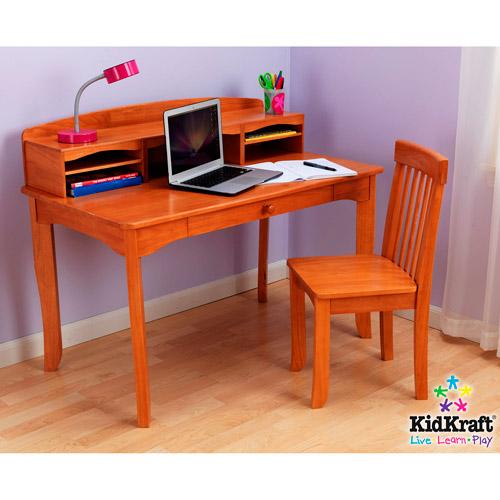 KidKraft  Avalon Desk Set with Hutch and Chair Honey