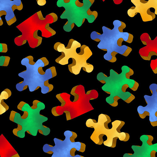 Vip By Cranston Puzzle Pieces Fabric  Walmartcom