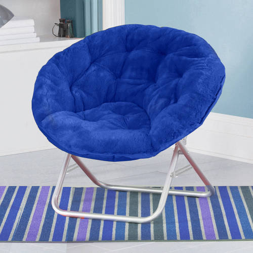saucer chairs sam s club french bentwood cafe mainstays faux fur chair multiple colors walmart com