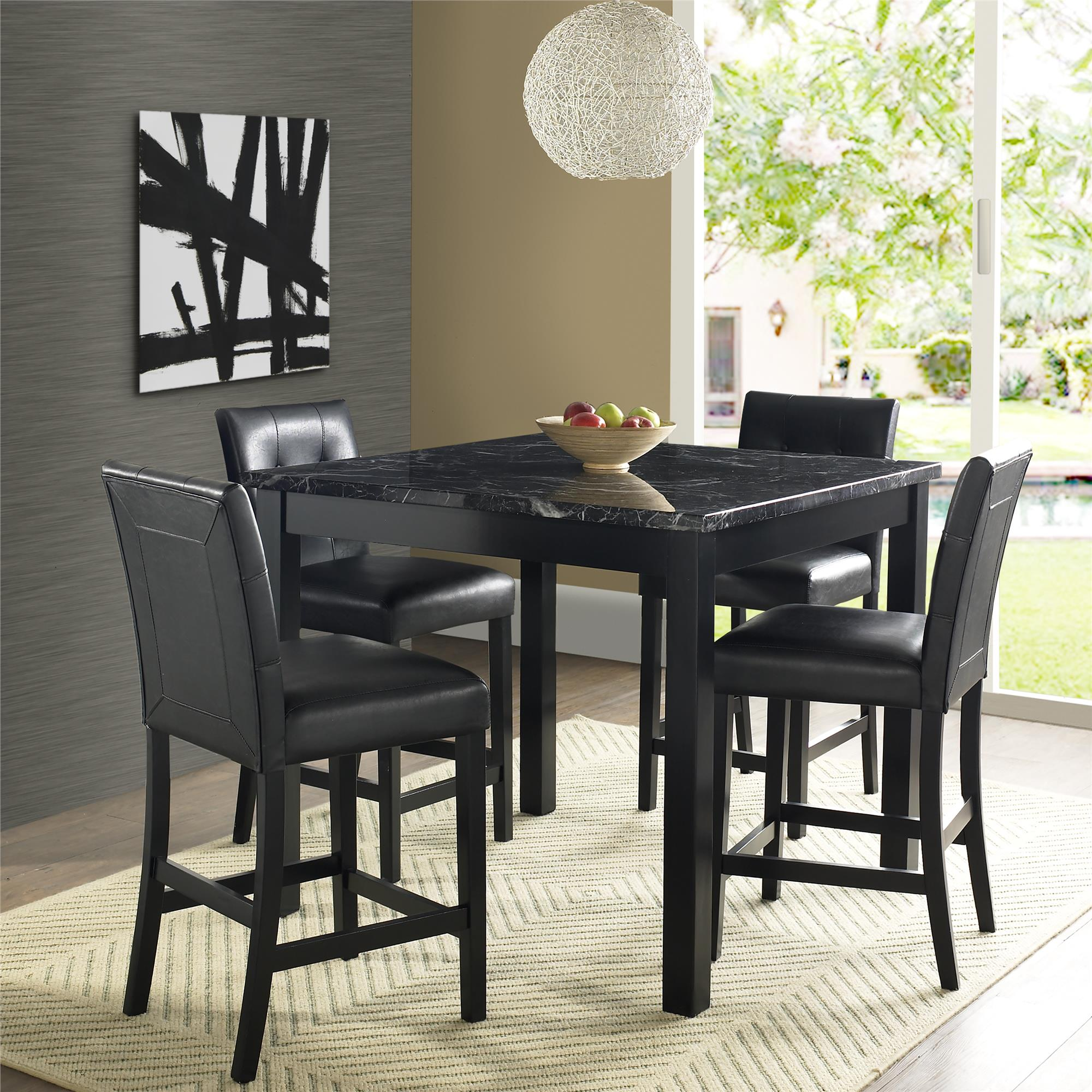 Bar Height Table And Chairs Dorel Living Andover 5 Piece Counter Height Dining Set Multiple Colors