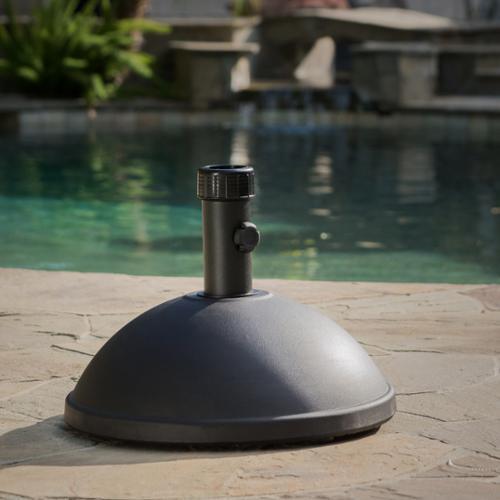 Black Dome Concrete Umbrella Holder