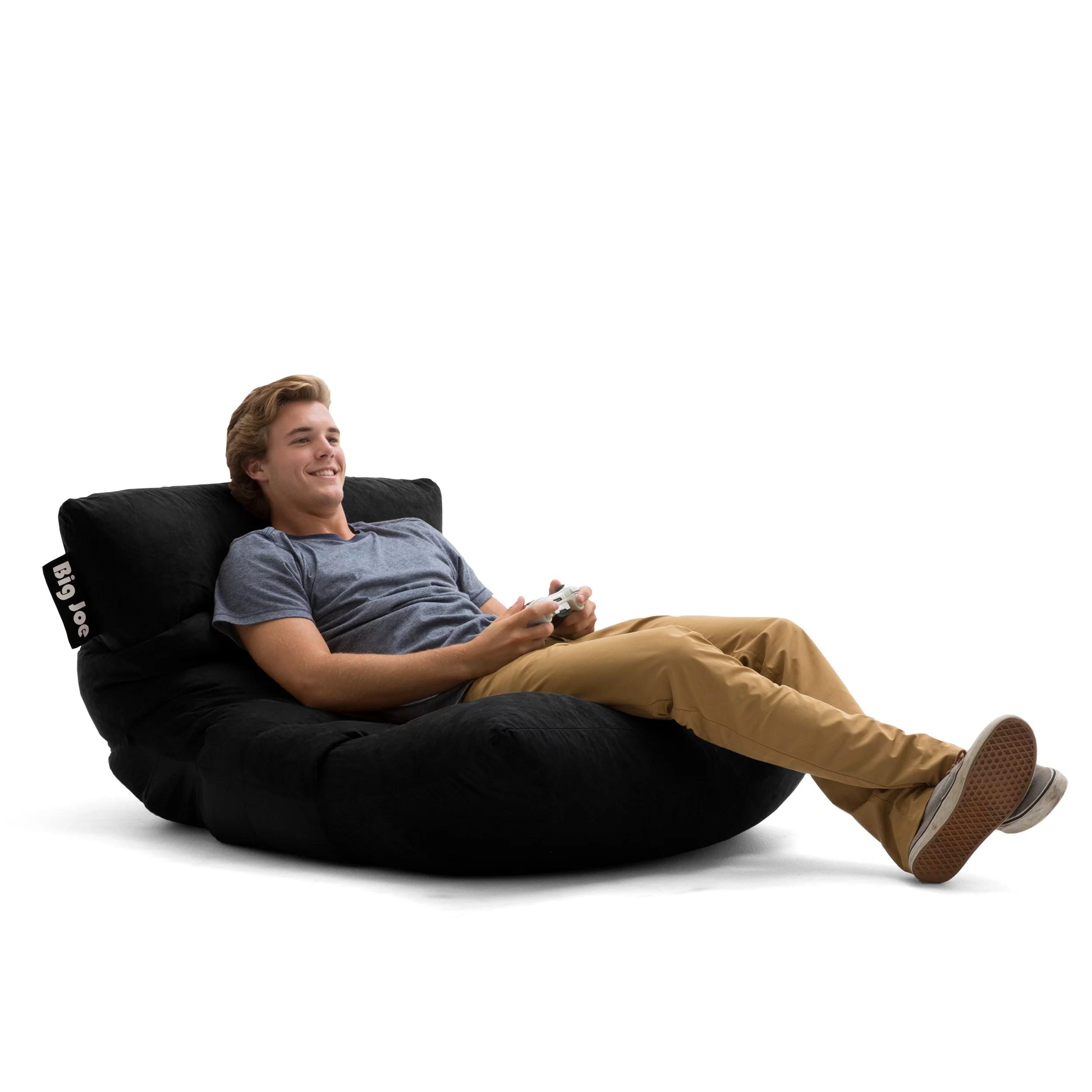 big joe roma lounge chair foldable aluminum sports floor bean bag multiple colors fabrics walmart com