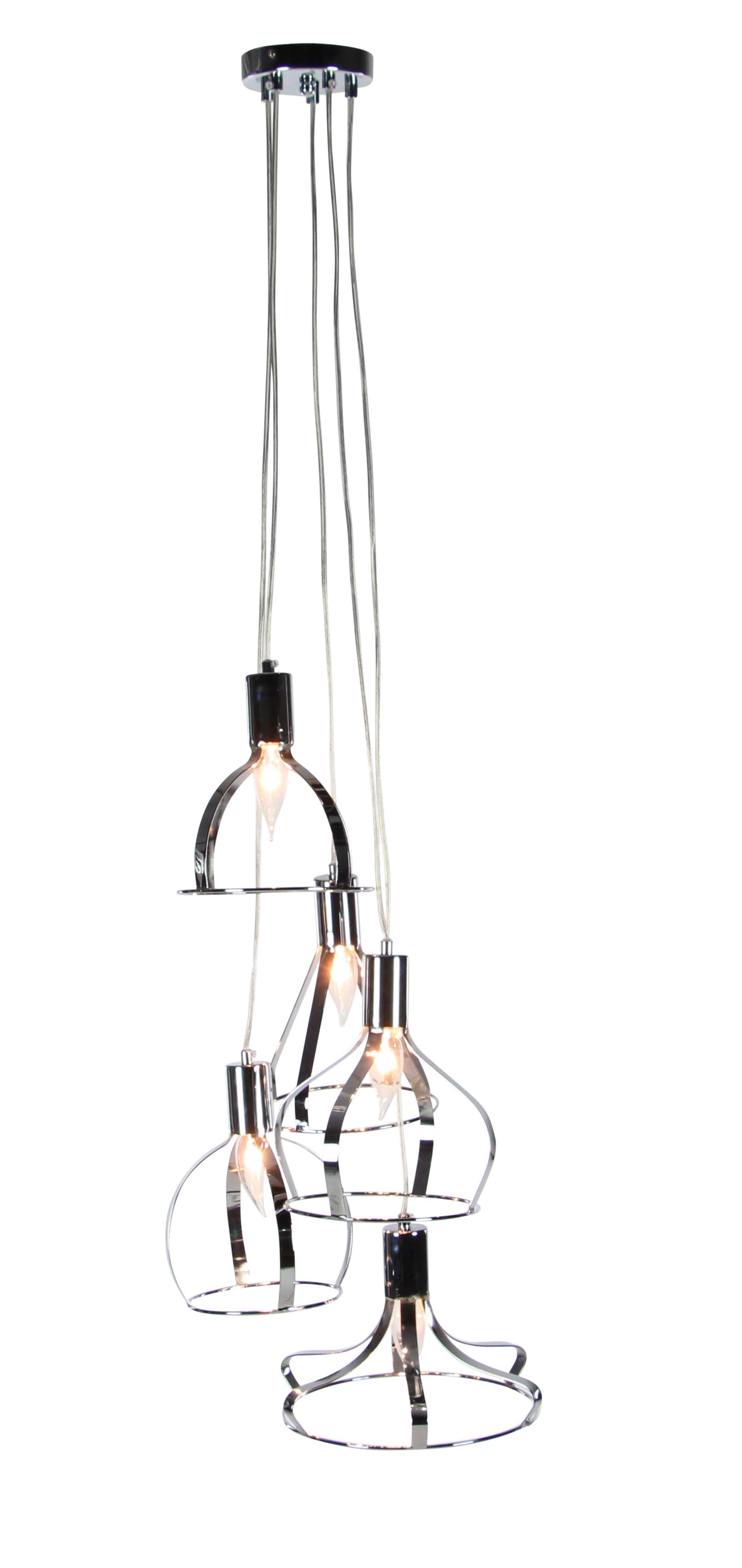 Decmode Contemporary 56 inch black iron bell-shaped five