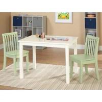 3-Piece Bailey Kids Table and Chair Set, Green - Walmart.com