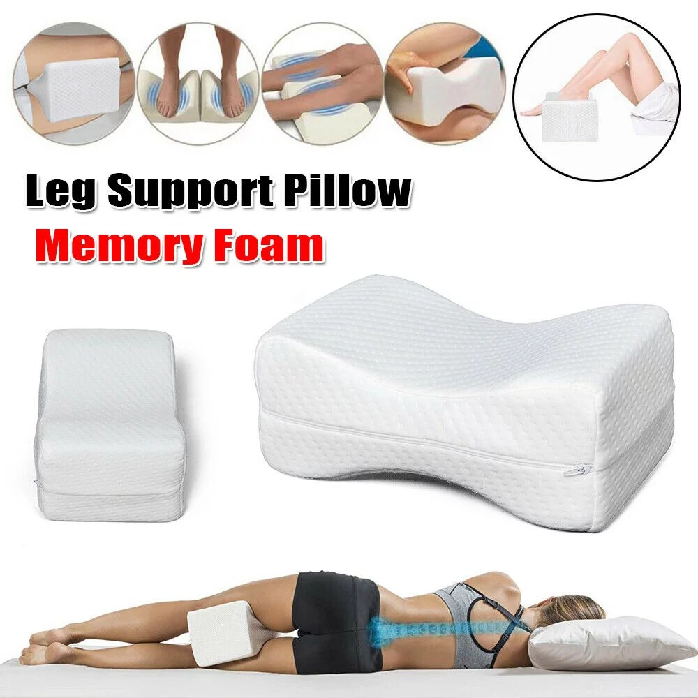 45d leg support pillow for sleeping sleep restoration double sided grooved memory foam pillow wedge pillow reduces pain improves circulation for
